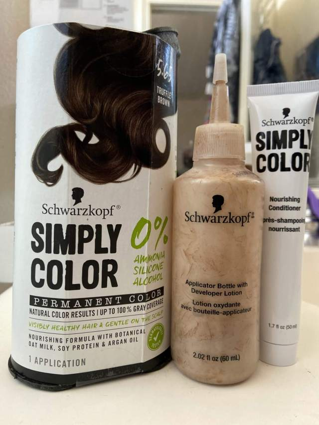 Schwarzkopf Simply Color Box Dye in Truffle Brown - at least it has no Ammonia!
