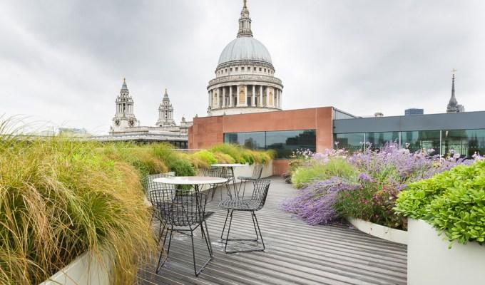 A garden terrace