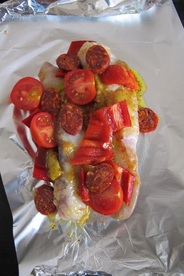 法國家常創意料理-西班牙風鮟鱇魚-1