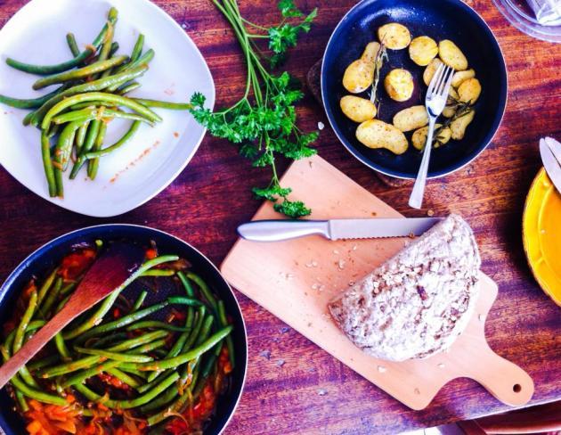 法國創意家常料理-四季豆番茄風味溫莎拉
