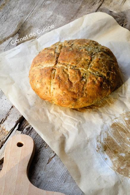 法國手工麵包-羅勒橄欖油麵包Le pain de basilic-羅勒麵包