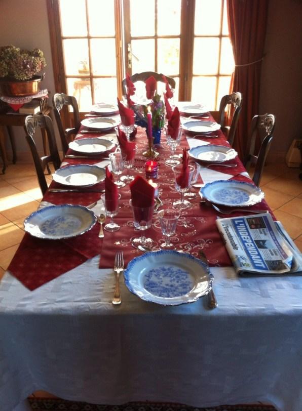 法國2014年聖誕節我家餐桌紀錄La table de Noel chez moi 2014