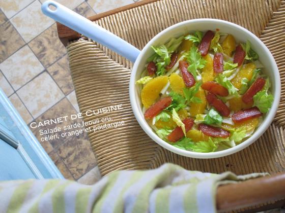 薩丁島烏魚子,回鄉甜橙沙拉
