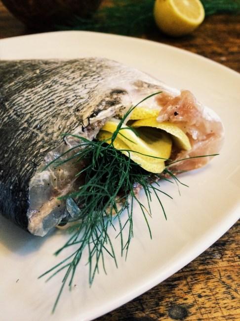烤鯛魚DAURADE AU FOUR