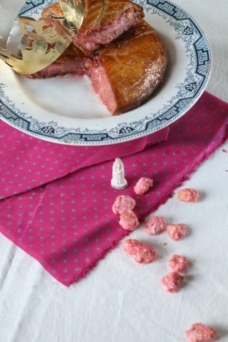粉紅糖帕林果仁國王餅Galette des roi  praline rose(