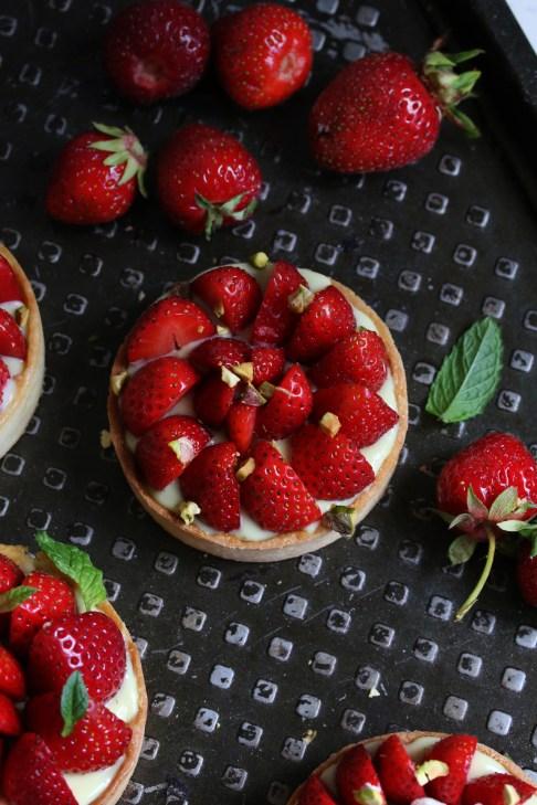 開心果草莓塔TARTELETTES FRAISES-PISTACHES