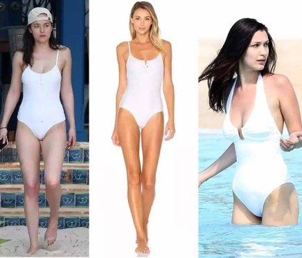 white one-pieces swimsuit