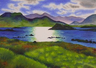 """HIghland Afternoon. Watercolour. 20x27"""". Lianne Todd. $900.00"""