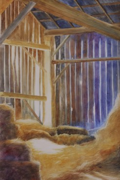 """A Place for Lofty Thoughts. Watercolour on Gessoed Paper. 15x22"""". Lianne Todd. $450.00"""