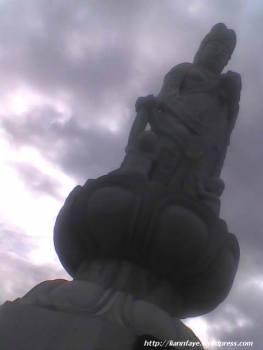 10-ft Jibo-Kannon stone Buddha at the Japanese Memorial Garden