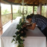 Floral arrangements for a wedding in Queensland, Australia