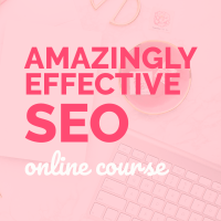 Product: Amazingly Effective SEO online course (search engine optimization)