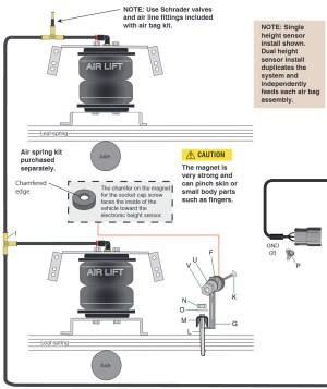 How to Install Air Lift SmartAIR II Automatic Leveling System  Single Path on your F150