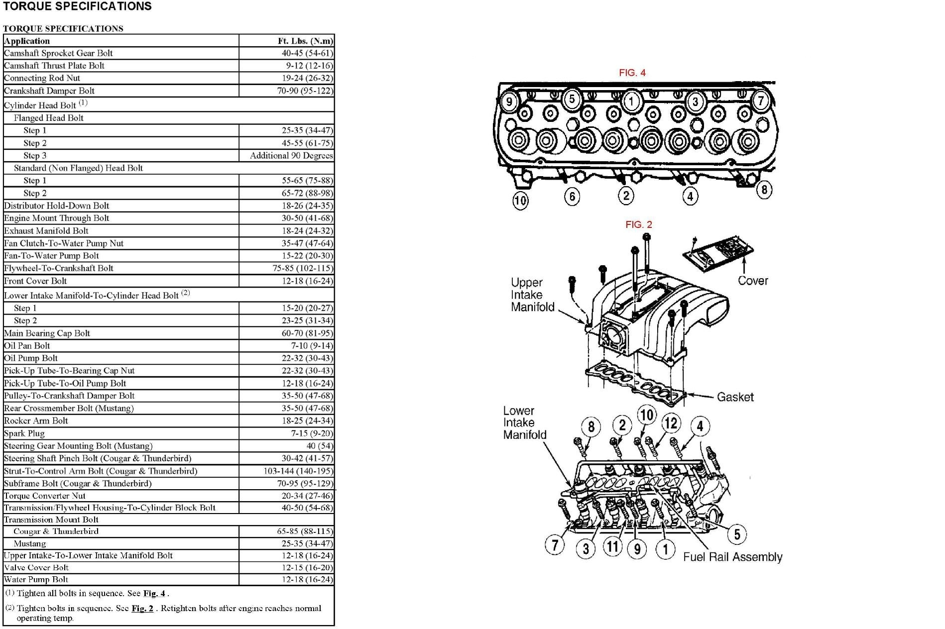 Ford 302 Engine Torque Specs