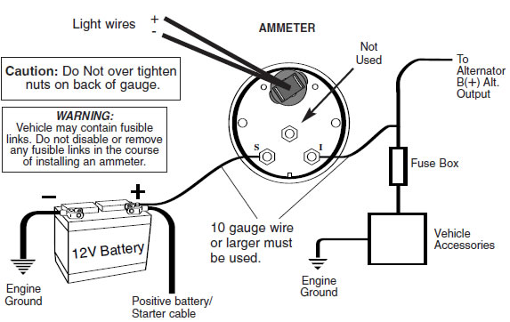 Ammeter Wiring Diagram on 1964 chevy coil wiring diagram