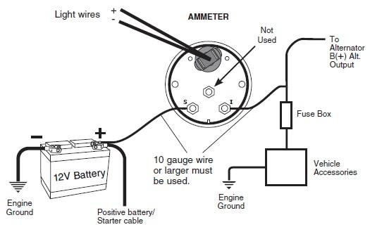 voltmeter gauge wiring  schematic wiring diagram series