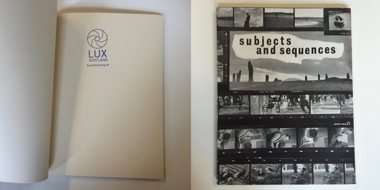 sample books from the LUX Scotland collection at GSA Library