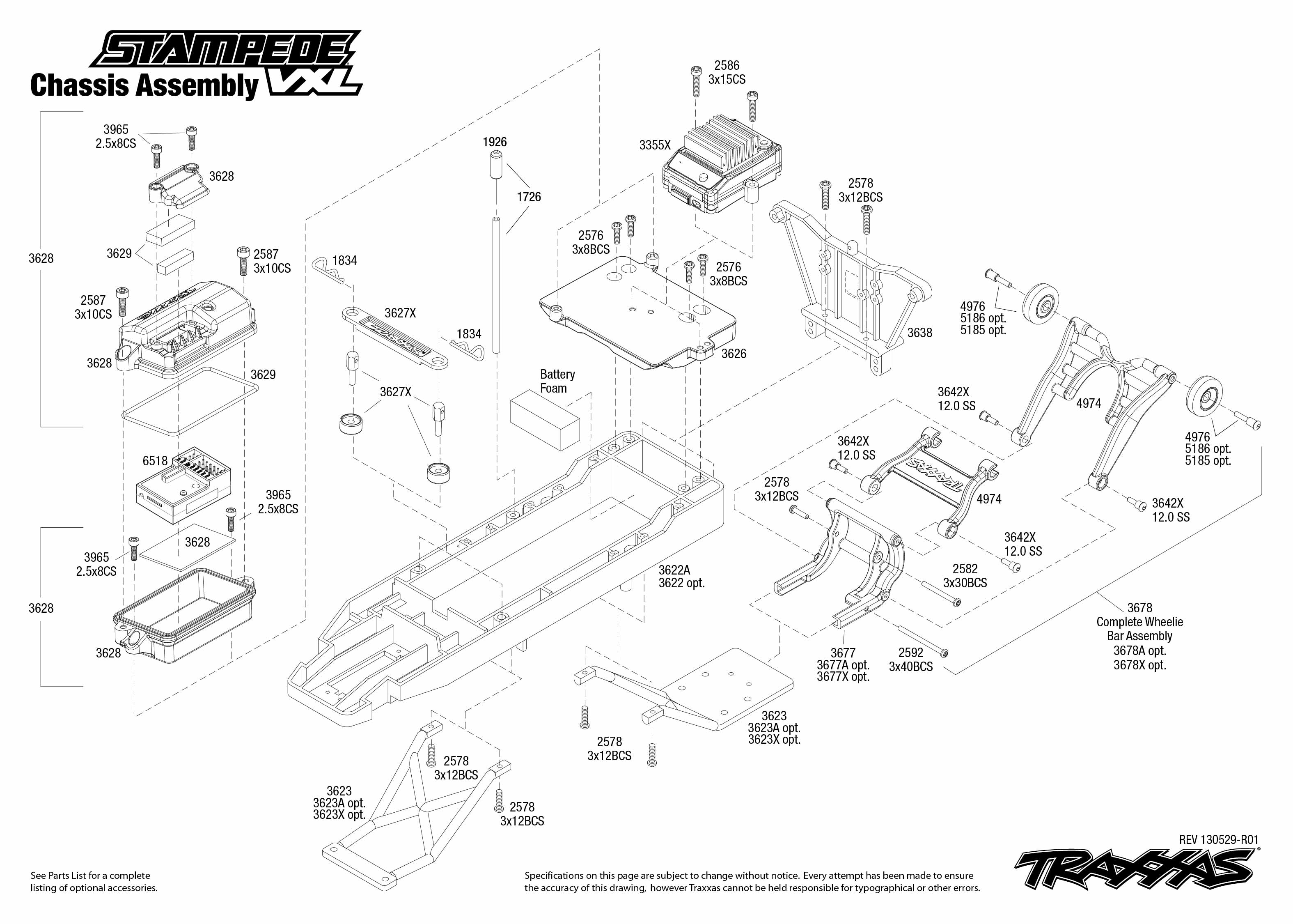 Traxxas 1 10 Scale Stampede Vxl 2wd Monster Truck