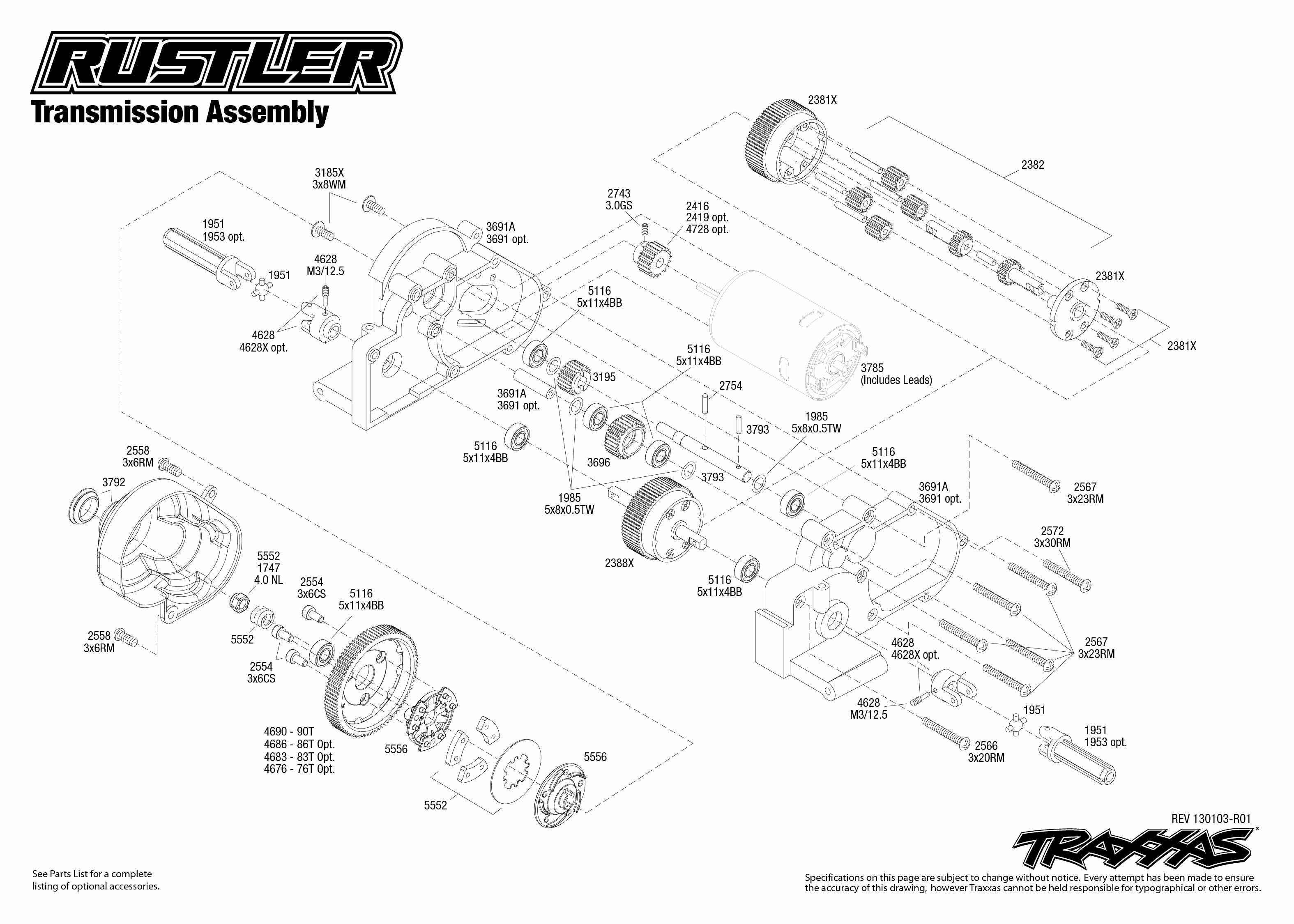 Traxxas 1 10 Scale Rustler Xl 5 2wd Stadium Truck