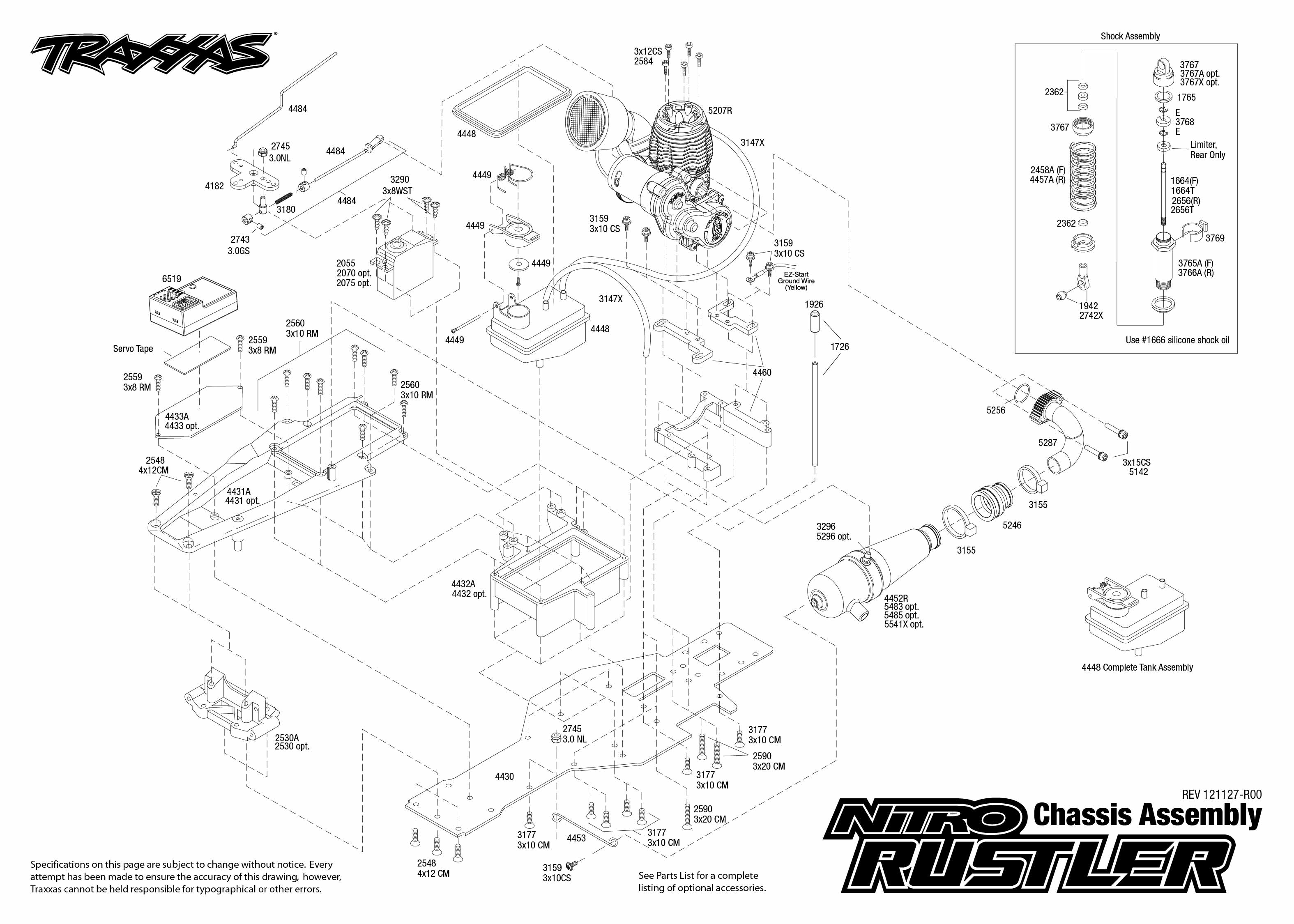 Traxxas 1 10 Scale 2wd Nitro Rustler Stadium Truck 44094