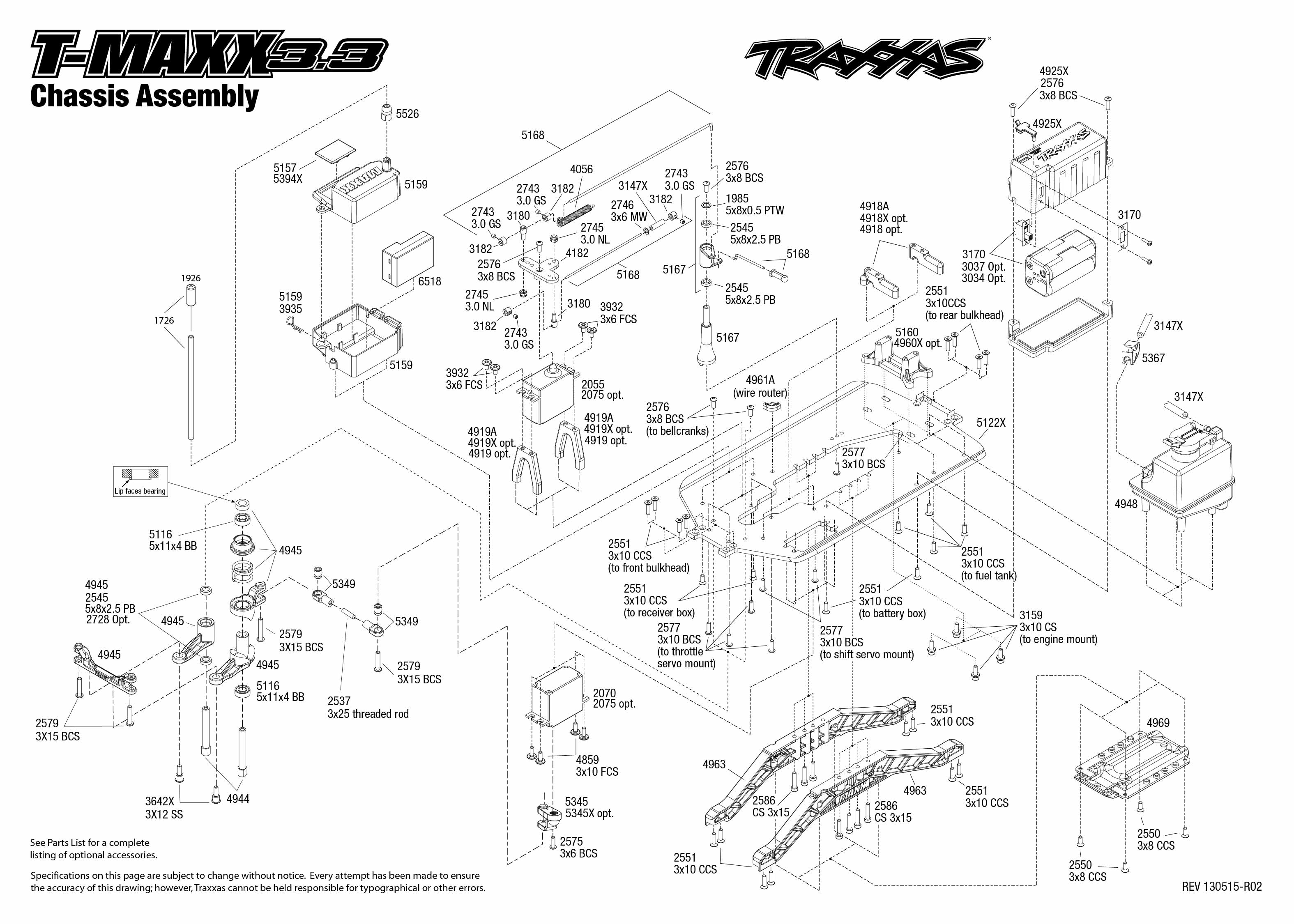 Traxxas 1 10 Scale T Maxx 3 3 4wd Monster Truck