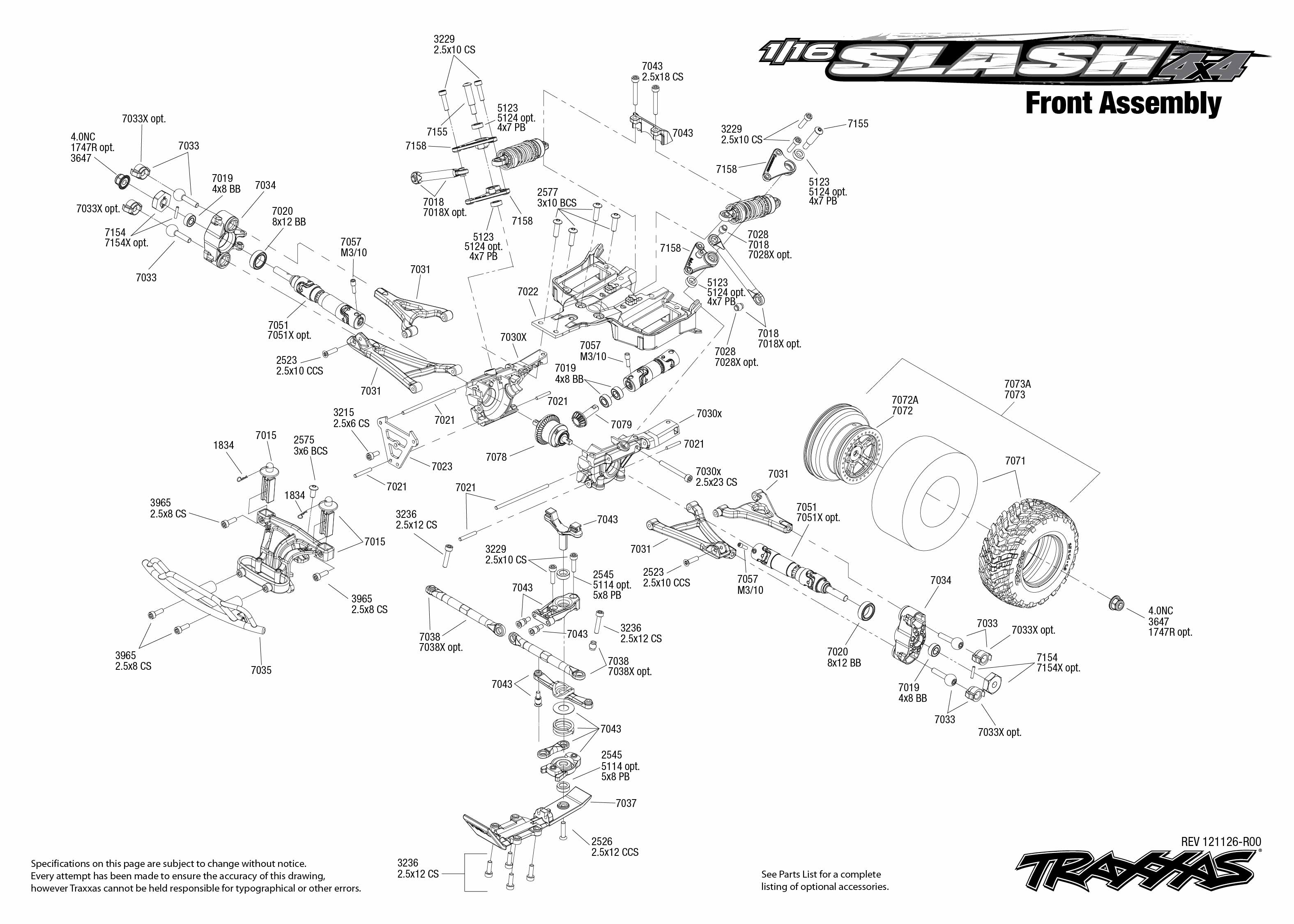 Traxxas 1 16 Scale Pro Slash 4x4 4wd Short Course Truck W