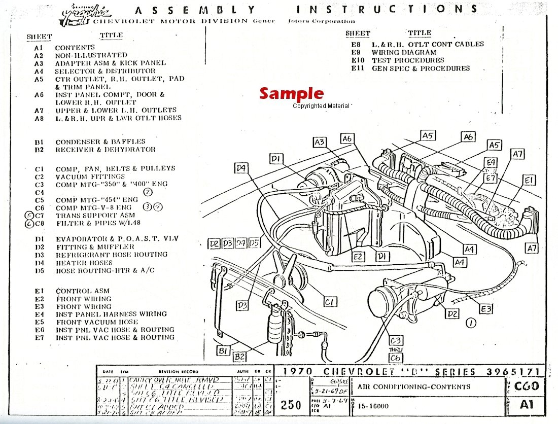 Chevrolet Factory Assembly Instruction Manual