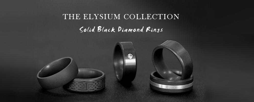Elysium Black Diamond Rings And Wedding Bands Hardest