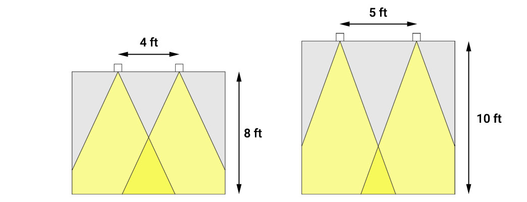 arranging downlights for general lighting