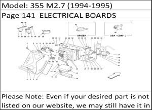 Buy Ferrari Part # 157801 TERMINAL BOX TO FUSERELAY BOARD