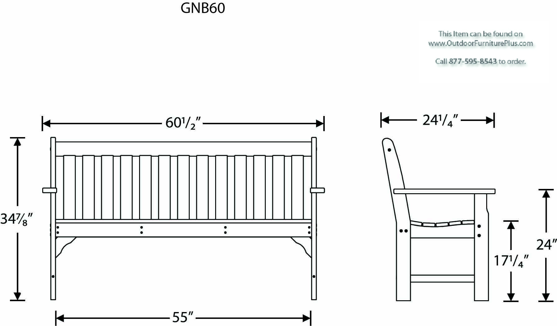 Polywood Vineyard 60 Bench Outdoorfurnitureplus