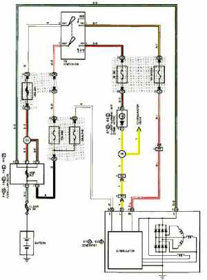 1999 LEXUS ES300 CHARGING SYSTEM DIAGRAM SCHEMATIC  CHARGING STARTING SYSTEM DIAGRAMS FOR LEXUS
