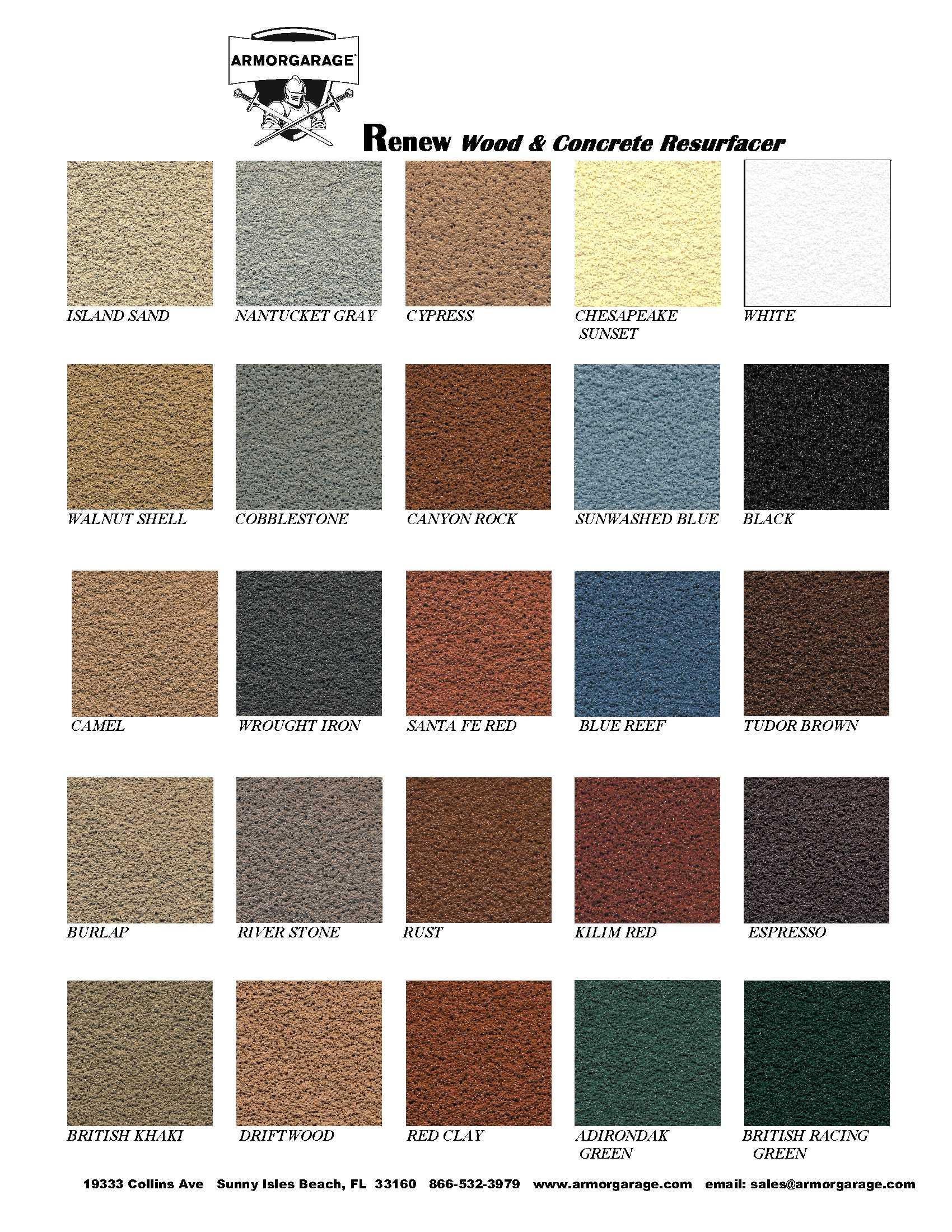 Valspar Concrete Stain Colors