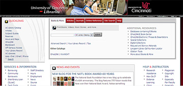 UC Libraries Retooled Homepage