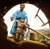 A Chinese Boat Woman and her Baby from a latern slide Barbour used in his classes
