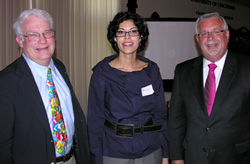 (l to r) David Meyer, Flavia Bastos, and Gregory Kearns