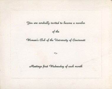 Woman's Club Invitation, 1977