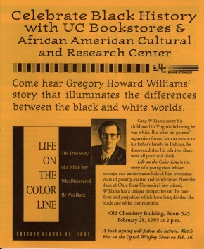 Flyer for William's lecture