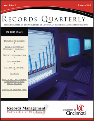 Records Quarterly Cover