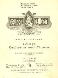 Cover of Concert Program, 1901