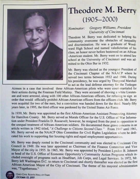 Article on Berry from the Ohio Civil Rights Hall of Fame