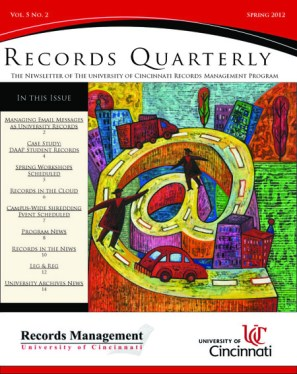 Records Quarterly Cover Spring 2012