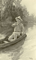 Boy Rowing