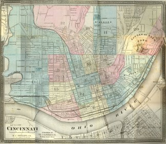 Map of Cincinnati, 1869