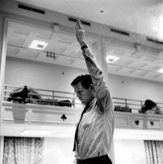 John Cage conducting