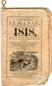 Almanac from 1818