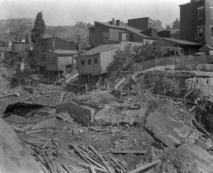 Buildings torn down