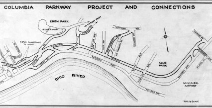 Map of Columbia Parkway