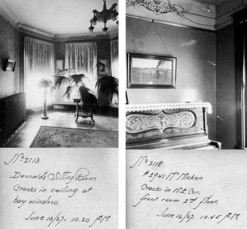 Interiors of Homes with damaged walls