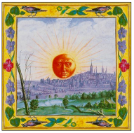 Detailed image from the Splendor Solis manuscript